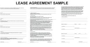 Sample Commercial Property Lease Application Form Agreement Template ...