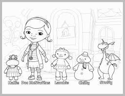 Dr Mcstuffin Coloring Pages Marvelous Doc Mcstuffins With Findo And
