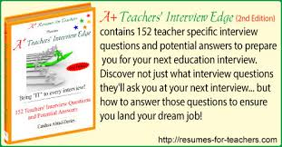 Common Teacher Interview Questions And Answers A Teachers Interview Edge