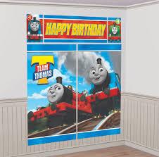 thomas all aboard scene setter wall decorating kit plastic