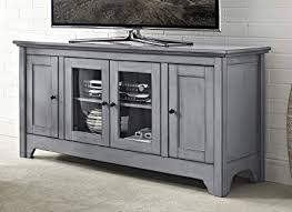 grey media console. Modren Grey WE Furniture 52u0026quot Wood TV Media Stand Storage Console  Antique Grey Intended