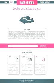 One Page Menu Template Free One Page Restaurant Website Template Restaurant Menu Vector Format