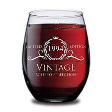 1994 25th birthday gifts for women and men wine gl funny vine 25 year old