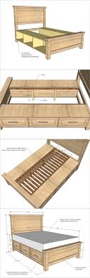 diy bedroom furniture kits. how to build a farmhouse storage bed with drawers #furniture #bed #space- diy bedroom furniture kits b