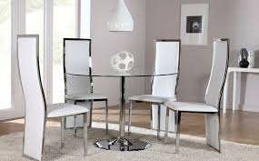 round glass dining room table and 4 chairs