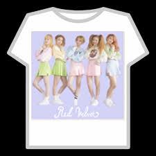K Pop T Shirt Red Velvetice Cream Cake Group Roblox