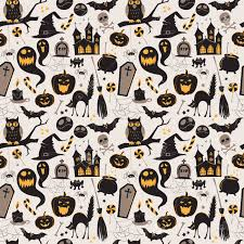 Halloween Pattern Fascinating Seamless Pattern Of Vintage Happy Halloween Flat Icons Halloween