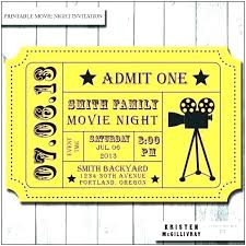 Free Printable Movie Ticket Template Night Admit One Meltfm Co