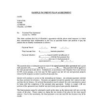 Monthly Payment Plan Contract Template Agreement Form Sample Word ...