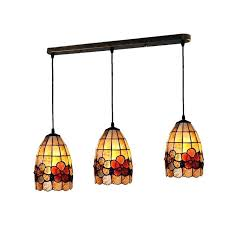 tiffany style lighting new 3 lights style flowers chandeliers lighting vintage stained shell restaurant living room hanging