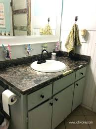 i chalk painted my bathroom actually love paint laminate how to refinish formica countertops refinishing look how to