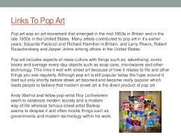 street art essay 13 links to pop art