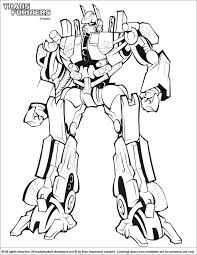 Transformers Coloring Pages To Print And Bumblebee Transformer