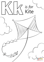 Small Picture K is for Kite coloring page Free Printable Coloring Pages