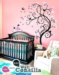white tree decal for nursery cherry blossom tree wall decal for nursery black bed baby nursery