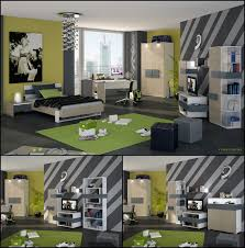 kids bedroom exciting modern teenage boys rooms decor ideas with grey and green color schemes also grey flooring plus green area rug cool tips to
