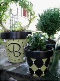 diy paint plastic flower pots painted clay pots craft ideas