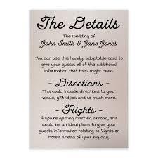 Information Cards For Wedding Invitations Hotel Rsvp Wording