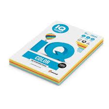 <b>Бумага цветная IQ</b> COLOR (А4,80г,5цв. интенсив по 50л.) пачка ...