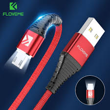 Samsung Lighting Charger Us 2 49 Floveme Led Micro Usb Cable For Samsung S7 S6 Edge 1m Lighting Data Charging Usb Charger Cable For Xiaomi Redmi 4x Note4 Adapter In Mobile