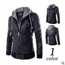 senarai harga removable hoos leather jacket men s leather coat dj1 terkini di malaysia