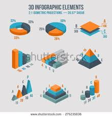 Isometric 3d Vector Charts Pie Chart And Donut Chart