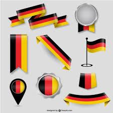 German Flag Design Elements Vector Free Download