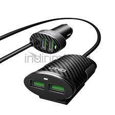 5.1A 4 Portlu USB Araba Şarj Aleti + Uzatma Kablosu