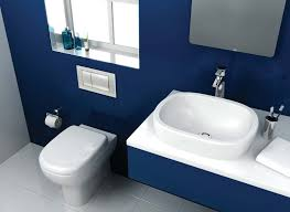 Small Blue Bathrooms Dark Blue Bathroom Delonhocom