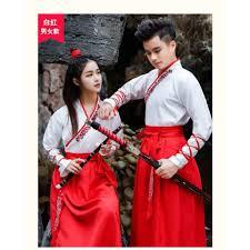 พรออเดอร ชดจนครกa ขาวแดง โบราณ งานโรงเรยน เดรส ชาย หญง Chinese Dress