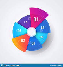 Beautiful Pie Chart Vector Circle Pie Chart Design Modern Infographic Template