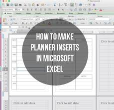 Microsoft Daily Planner Custom Finally A Tutorial On How I Make My Inserts I Usually Use