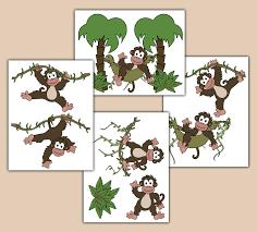 monkey wall decals baby boy jungle nursery children s stickers