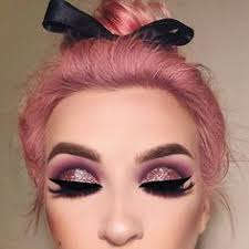 amazing baby doll look glitter makeup looks sparkly eye makeup pink eyeshadow look