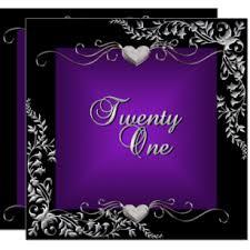 Black And Purple Invitations Black And Purple Invitations Announcements Zazzle Au