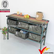vintage industrial style furniture. french style metal wood vintage industrial furniture d