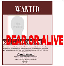 35 Best Wanted Posters Template Free Psd Pdf Example Formats