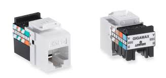 leviton 5g108 rw5 gigamax 5e quickport connector cat 5e white view larger