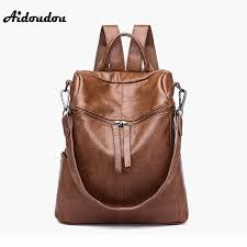 aidoudou new brand women backpacks high quality soft pu leather school bags