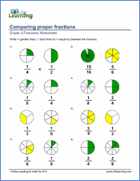 Grade 3 Fractions And Decimals Worksheets Free Printable