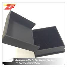 custom jewelry bo packaging matte black paper cardboard box