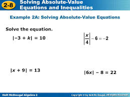 example 2a solving absolute value equations
