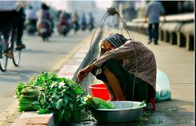 Image result for bà cụ già nghèo khổ bán rau cải bên đường