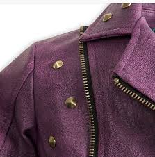 mal disney descendants costume faux leather jacket coat 7 8 9 10 11 12 for