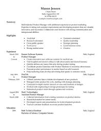 How To Create A Good Resume Product Manager Resume JmckellCom 38