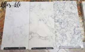 lg viatera rococo minuet and everest white quartz countertops