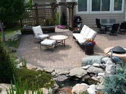 stirring backyard stone patio designs stone small backyard paver patio ideas