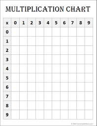 A Printable Multiplication Chart Free Math Printable Blank Multiplication Chart Contented