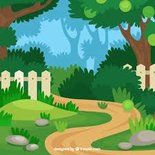 Small Picture Flat garden path design Vector Free Download