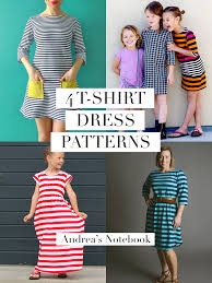 4 t shirt dress patterns for girls and women i heart these